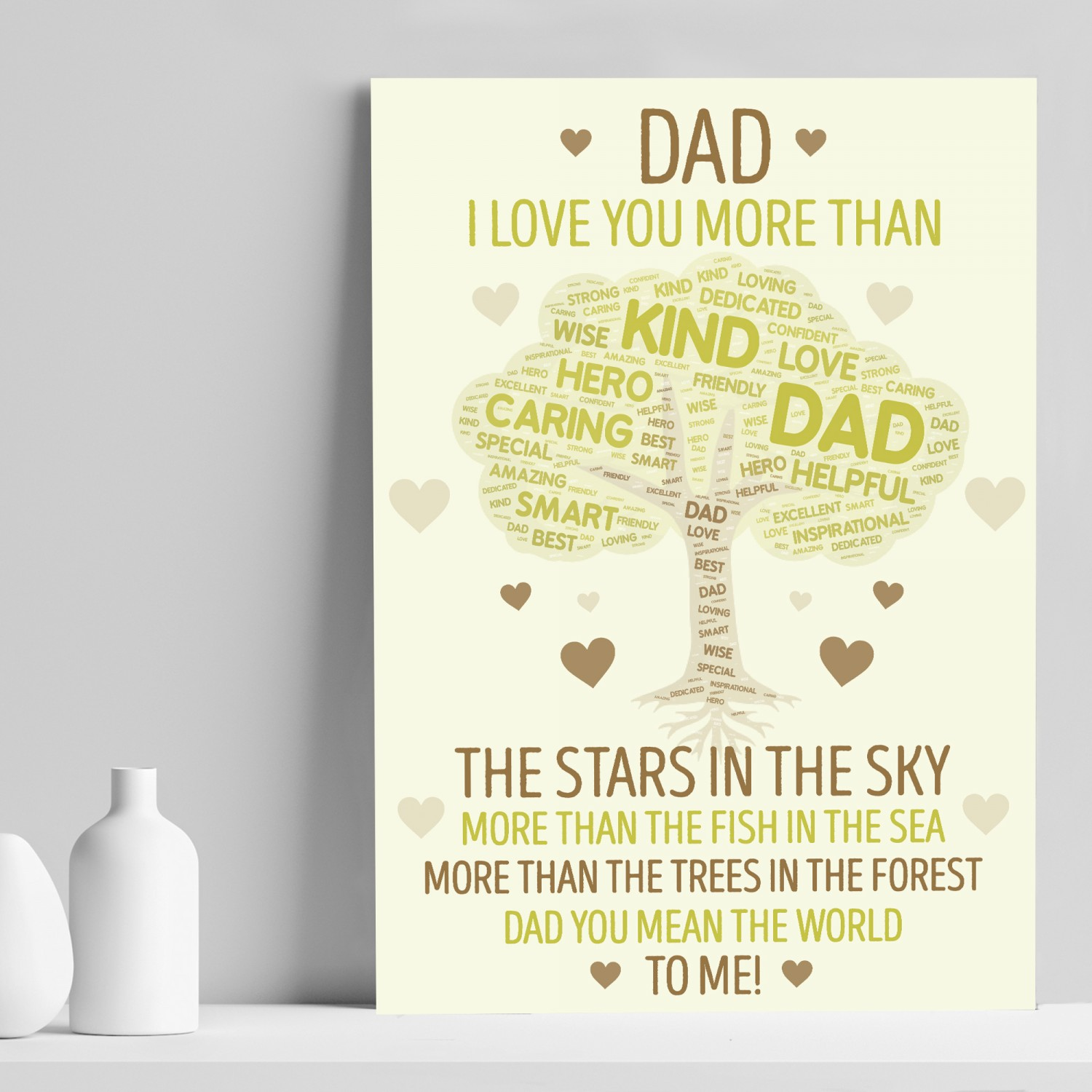 Dad Gift From Daughter Son Dad Birthday Christmas Gift Dad Print