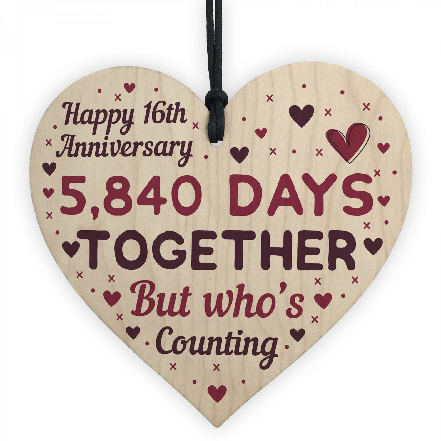 Handmade Wood Heart Gift To Celebrate 16th Wedding Anniversary