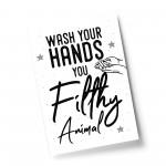 Bathroom Quote Print Filthy Animal Bathroom Sign Bathroom Decor