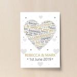 Engagement Gift Personalised Keepsake Print Engagement Present