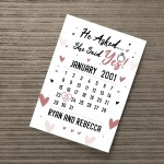 Engagement Present Print Engagement Gift Personalised Gift
