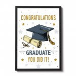 Congratulations Gift For Graduate Graduation Gifts Framed Print