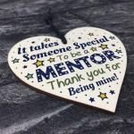 Thank You Gift For Mentor Wooden Heart Novelty Thank You Teacher
