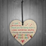Teaching Assistant Thank You Present Wooden Heart Leaving Gift