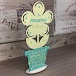 Amazing Colleague Wooden Flower Work Friend Leaving Job Gifts