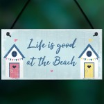 Beach Sign Nautical Theme Hanging Plaque Hot Tub Garden Sign