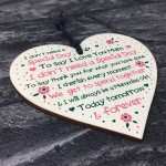 Thank You Gift For Mum Birthday Christmas Mothers Day Gift Heart