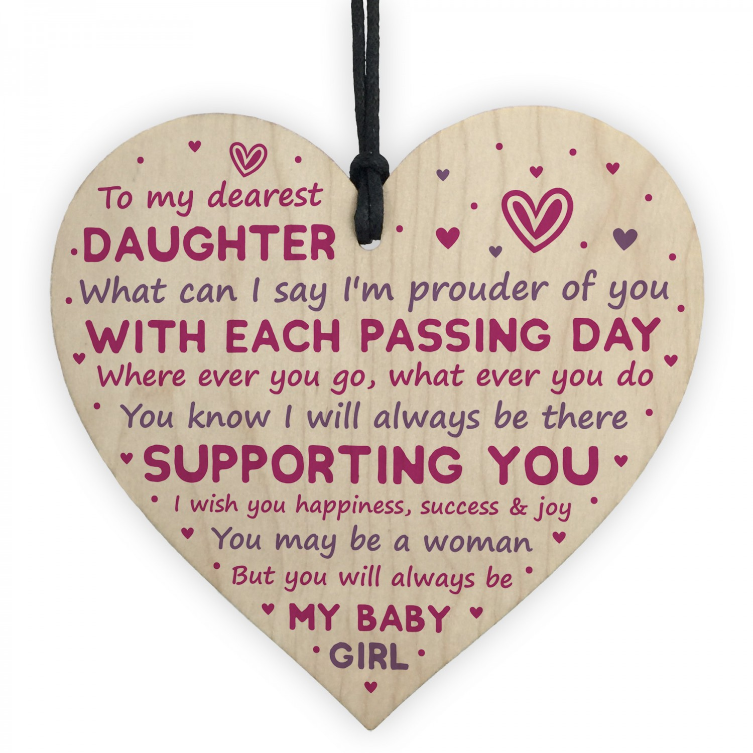 Daughter Gift From Dad Mum 18th 21st Birthday Gift Card Daughter