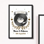 1st 2nd 5th Anniversary Gift For Husband Wife Boyfriend Frame