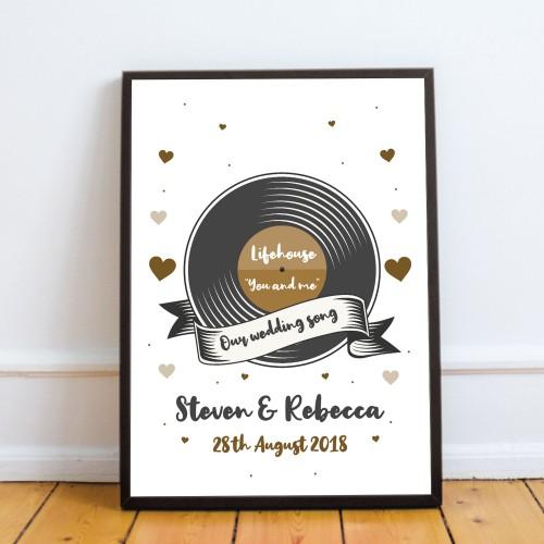 1st 5th 10th 25th 50th Wedding Anniversary Wedding Song Frame