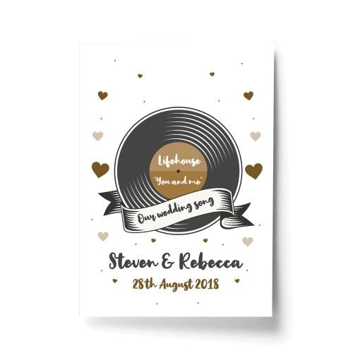 1st 2nd 5th 10th 25th Wedding Anniversary Wedding Song Prints