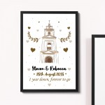 1st 2nd 10th Wedding Anniversary Gift For Husband Wife Framed