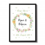1st Home New Home Gift House Personalised Warming Present Framed