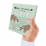 1st 2nd 25th Anniversary Card Gift For Husband Wife Boy Girl