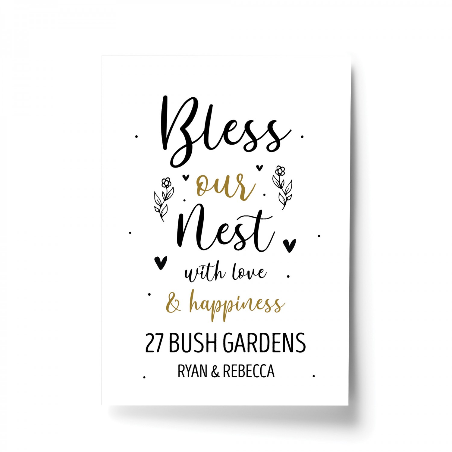 handcrafted personalised Bless Our House  housewarming,new home plaque  gift