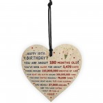 15th Birthday Gift For Daughter Son 15th Birthday Facts Heart