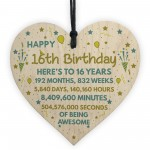 16th Birthday Gift For Daughter Son 16th Birthday Card Heart
