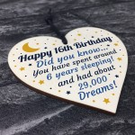 16th Birthday Card For Daughter Son Wood Heart Novelty 16th Gift