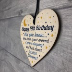 19th Birthday Card For Daughter Son Wood Heart Novelty 19th Gift