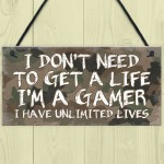 Bedroom Signs For Door Gaming Sign Gamer Gift For Son Dad Sign