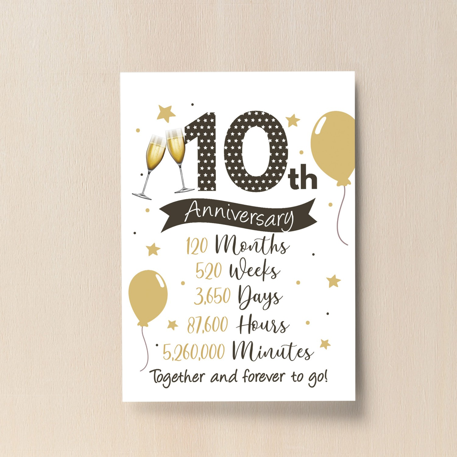 10th Wedding Anniversary Gift Print Mr Mrs Anniversary Gifts