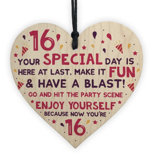 16th Card Sixteenth Birthday Gift For Daughter Son 16 Birthday