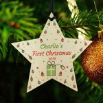 1st Christmas Gift For Boy Girl Baby First Christmas Bauble Star