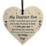 16th 18th 21st Birthday Gift For Son From Mum Wood Heart