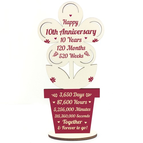 10th Wedding Anniversary Gift For Husband Wife Gift For Him Her