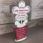 20th Wedding Anniversary Gift For Husband Wife Gift For Him Her