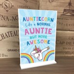Auntie Gift For Birthday Christmas Standing Plaque Unicorn Gift