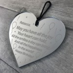 16th 18th 21st Birthday Gift For Friend Personalised Heart