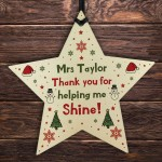 Christmas Gift For Teacher Teaching Assistant Personalised Star