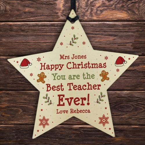 Best Teacher Gift Wood Heart Handmade Christmas Gift For Teacher