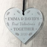 1st Valentines Day Gift Personalised Heart Gift For Boyfriend
