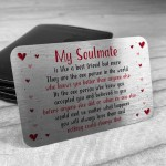 Valentines Keepsake Gift Metal Wallet Card Gift For Him Her