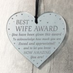 Valentines Gift Novelty Award Mirror Heart Gift For Wife