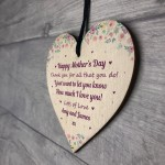 Thank You Gift For Mum Mothers Day Gift Wood Heart Daughter Son