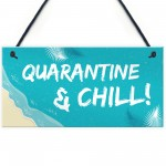 Quarantine Sign Hanging Sign Man Cave Bar Sign Home Decor Funny