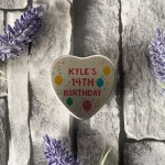 14th Birthday Gift For Son Daughter Personalised Heart Tin