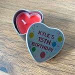 15th Birthday Gift For Son Daughter Personalised Heart Tin