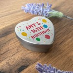 16th Birthday Gift For Son Daughter Personalised Heart Tin