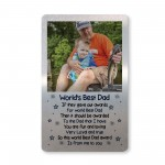 Personalised Fathers Day Birthday Gift For Dad Photo Wallet Card