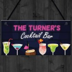 PERSONALISED Cocktail Bar Neon Effect Sign Bar And Pub Decor