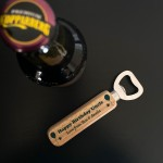 Quirky Uncle Birthday Gift Wooden Bottle Opener Personalised