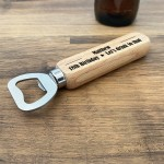18th 21st 40th 50th Birthday Gift Personalised Bottle Opener