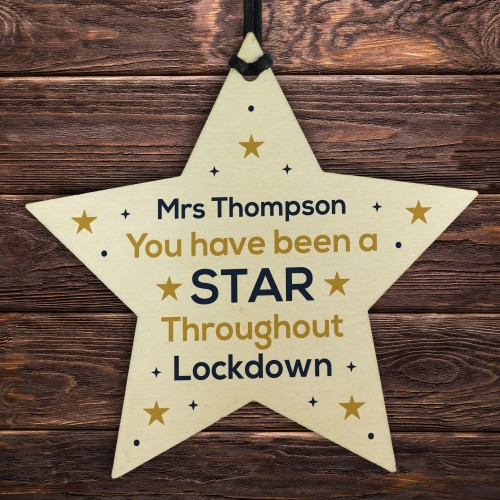 BEEN A STAR Personalised Teacher Assistant Thank You Gift Star