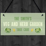 Veg And Herb Garden Sign Personalised Shed Summerhouse Gift