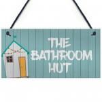 Quirky Nautical Bathroom Sign THE BATHROOM HUT Beach Theme