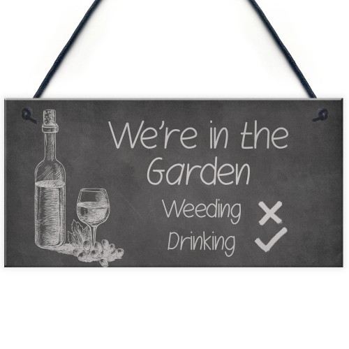 FUNNY Garden Sign Hanging Summerhouse Shed Plaque Welcome